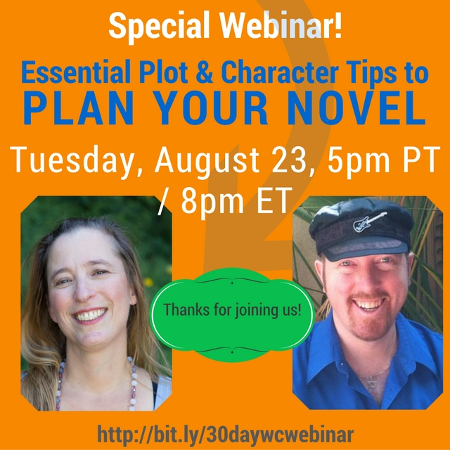 A special webinar: Essential Plot and Character Tips: New and Improved